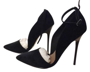 Renvy Heels Stiletto Black Suede Pumps