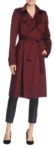 Theory Belted Wool Cashmere Trench Jacket Coat