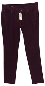 Ann Taylor New With Tags Modern (devin) Fit Corduroy Versatile Color Slim Fit Straight Pants Burgundy