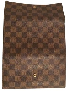 Louis Vuitton SALE! Damier Ebene International Trifold Checkbook Cardholder Wallet w/ Box