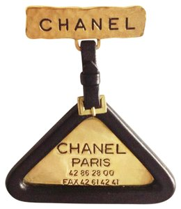 Chanel Vintage *Chanel 94P LARGE Hammered Lambskin Leather Pin Brooch