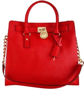 Michael Kors Handbag Shoulder Tote Satchel in Red
