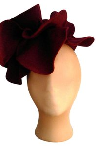 Other Kentucky Derby ProBurgundy felt over sized rosette headband fascinator