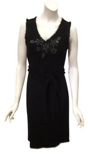 Moschino Cheap And Chic Chanel Beaded Boucle Tweed Dress