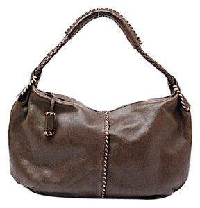 Suarez Andrea Mabiani Whip Stitching Satchel in Brown