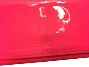 Ted Baker Previously loved hot pink Ted Baker wallet with rose gold hardware