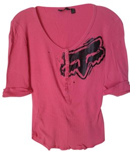 Fox Racing Small Thermal Button Down Shirt Pink