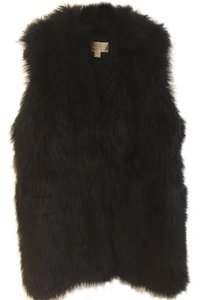 Michael Kors Faux Fur Fur Warm Mid Length Vest
