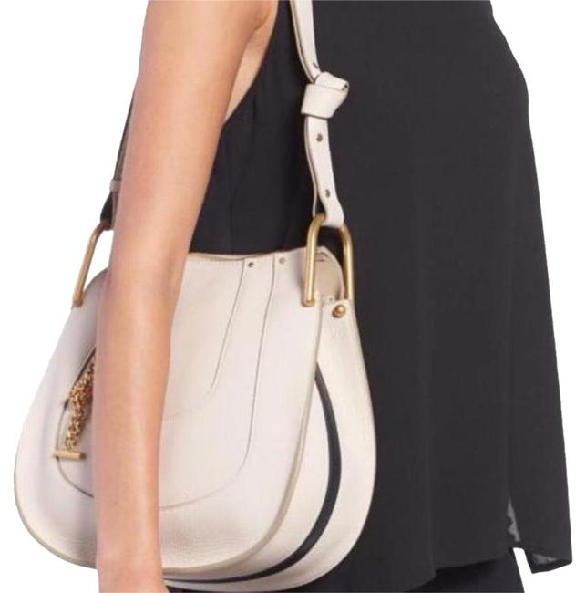 Item - Hayley Hobo Small Tote White Leather Shoulder Bag