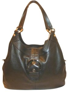 Coach Refurbished Leather Multi Compartment Lined Hobo Bag