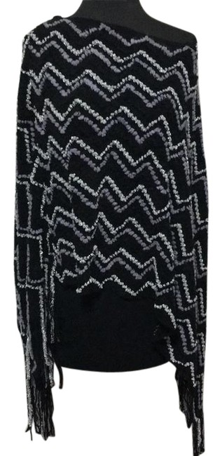 Item - Black/Grey/Silver Bc33929 Poncho/Cape Size OS (one size)