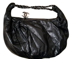 Chanel Silvr Chain Leather Hobo Bag