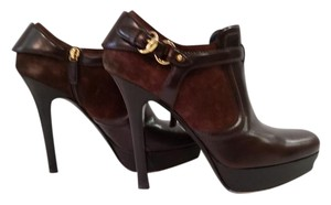 Gucci Leather Gold Hardware Brown Boots