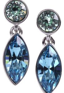 Givenchy blue Marine Swarovski elements crystals earring