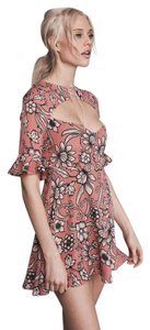 For Love & Lemons short dress Pink Floral Pink Ayla And on Tradesy