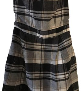 French Connection short dress Black, White, Grey plaid on Tradesy