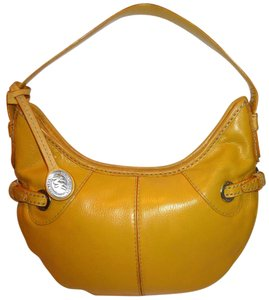 Michael Kors Refurbished Leather Lined Yellow Shoulder Bag