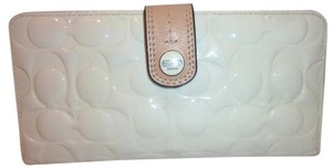 Coach Cream Patent Leather Wallet