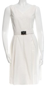 Prada short dress White, Silver Sleeveless Hardware on Tradesy