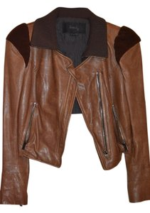 Hanii Y Brown Leather Jacket