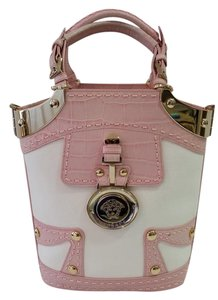Versace Tote in White/Pink