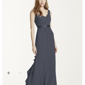 David's Bridal Pewter F15530 Dress