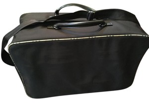 Buberry Travel Luggage Carry-on Dark Brown With Plaid Piping Travel Bag