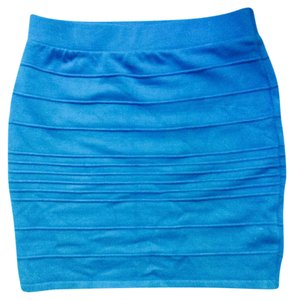 Wow Couture Form Fitting Mini Skirt Teal