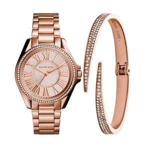 Michael Kors Kacie Stainless Rose Gold-Tone MK3569 Watch and Bracelet Gift Set