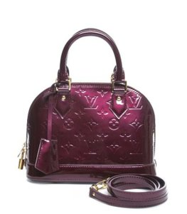 Louis Vuitton Vernis Alma Bb Cross Body Satchel in Rouge Fauviste