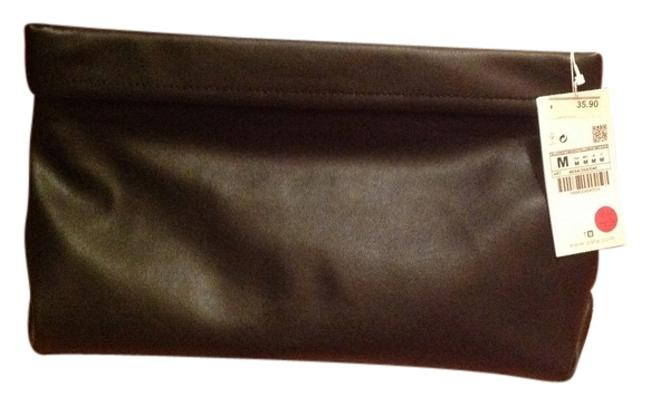 Item - Black Gold Hardware Faux Leather Clutch