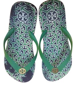 Tory Burch Green just reduced the price they were 45.00 Sandals