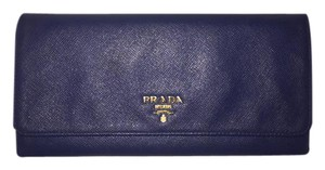 Prada Prada Continental Wallet Blue