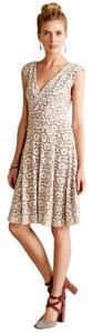 Anthropologie short dress White, Red Lace Vintage Classic A-line on Tradesy