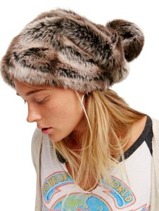 Free People Free People Faux Fur Slouchy Beanie
