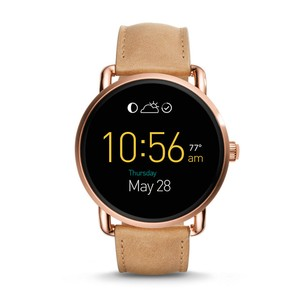 Fossil Q Wander Touchscreen Rosegold Watch Fossil Q Wander Rose Gold Smartwatch