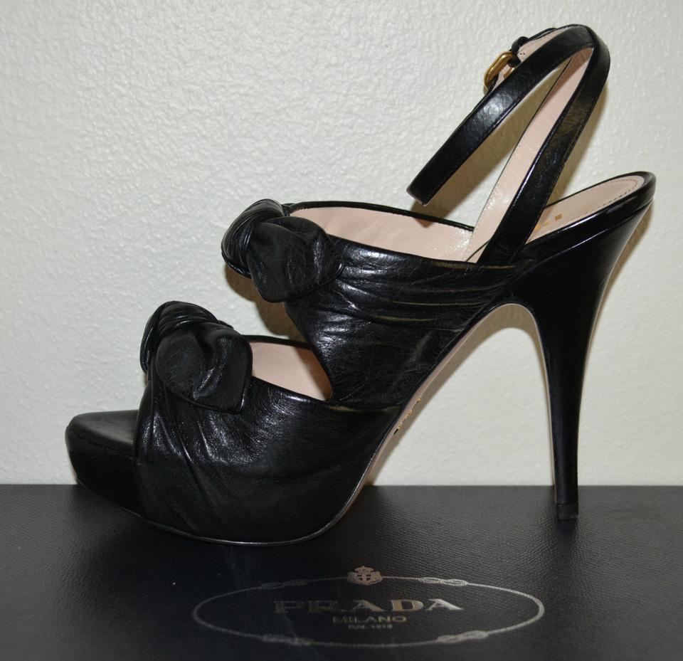 Prada Runway Pumps Eu Leather Platform Black TgqxrT0