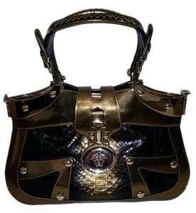Added To Ping Bag Versace Python Snakskin Gold