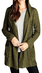 Women Fashion Cardigan Knit Olive Jacket