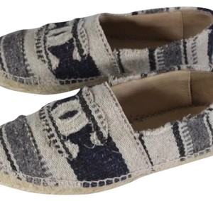 Chanel Espadrilles Fashion Affordable Navy Flats