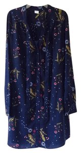 Wild Pearl short dress Navy blue with multicolored design on Tradesy