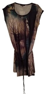 Trees Pleated Graphic Tunic