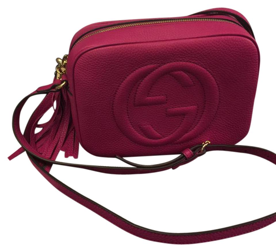 daa3499a821 Gucci Soho Soho Disco Disco Fuchsia Leather Cross Body Bag - Tradesy