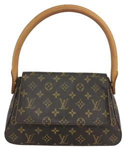 Louis Vuitton Lv Looping Mini Monogram Canvas Shoulder Bag