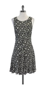 Diane von Furstenberg short dress Grey & Black Leopard Print Silk on Tradesy