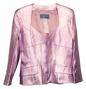 Thierry Mugler Metallic pink Leather Jacket
