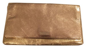 Kate Spade Leather Evening Gold Clutch