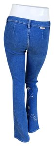 M.Officer #mofficer #embroidered Boot Cut Jeans-Medium Wash