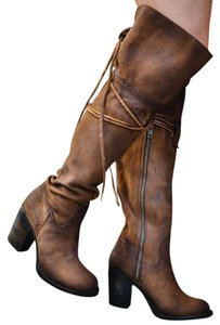 FreeBird Brock Over-the-knee Size 8 Suede Leather Sale Tan Boots