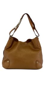 Cole Haan Bronze Pebbled Leather Shoulder Bag